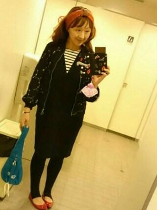 KAYOKOさんの「ボンディングカサネワンピース【niko and...】(niko and...|ニコアンド)」を使ったコーディネート