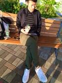 ☆S☆さんの「adidas STAN SMITH (ランニングホワイト/ランニングホワイト/クリアグラナイ) (17SP) 【SP】(adidas|アディダス)」を使ったコーディネート