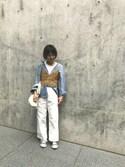 NORI.さんの「flower laceキャミソール(MURUA|ムルーア)」を使ったコーディネート