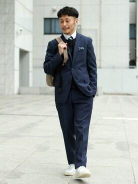 TAKEO KIKUCHI 名古屋パルコ店|大場 貴友さんの「CS_ボディシェルドライジャケット(TAKEO KIKUCHI)」を使ったコーディネート