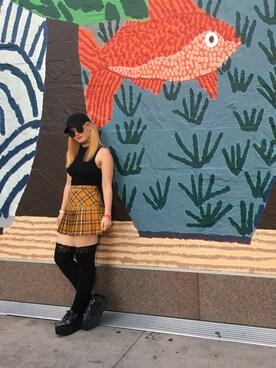 「FOREVER 21 Tartan Plaid Pleated Mini Skirt(Forever 21)」 using this Akela Mahealani looks