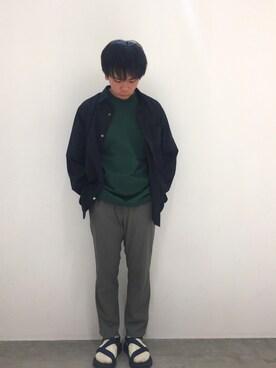 Adam et Rope' 柏高島屋ステーションモール|shota kimuraさんのシャツ/ブラウス「コットンシルクシャツ(ADAM ET ROPE'|アダム エ ロペ)」を使ったコーディネート