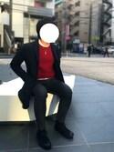 nanoさんの「7GG ITALYメリノウール 畦編みクルーネックニット#(JOURNAL STANDARD relume)」を使ったコーディネート