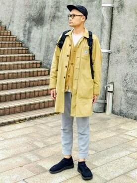 SHINJI  LOW さんの(白山眼鏡店|ハクサンメガネテン)を使ったコーディネート