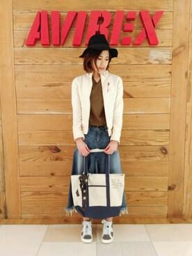 AVIREX  福岡|よしださんのブルゾン「avirex/ アヴィレックス/ STAND BELT STRETCH BZ/ スタンド ベルト ストレッチ ブルゾン / Belle(AVIREX|アヴィレックス)」を使ったコーディネート