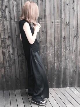 NORIKOさんの「BOTTLE NECK N/S TOPS(RIM.ARK)」を使ったコーディネート