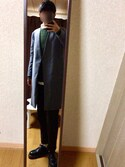 MoMoさんの「MEN フランネルシャツ(無地・ボタンダウンカラー・長袖)(ユニクロ|ユニクロ)」を使ったコーディネート