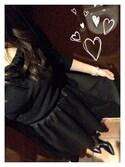 saraさんの「ひらひら揺れるオトナなシルエ!イレギュラーヘム☆ギャザーフレアスカート/膝丈/アシンメトリー[M1685](KOBE LETTUCE|KOBE LETTUCE)」を使ったコーディネート