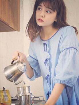 村田倫子さんの「エムトロワ ドリーミーでガーリーなナイトウェア(haco!|ハコ)」を使ったコーディネート