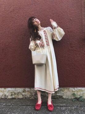 村田倫子さんの「クリアナミナミトート(ACCOMMODE|アコモデ)」を使ったコーディネート
