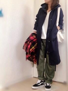 Ayako  さんの「DOORS コットンテンセルベイカーパンツ(URBAN RESEARCH DOORS WOMENS|アーバンリサーチ ドアーズ ウィメンズ)」を使ったコーディネート