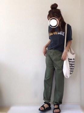 Ayako  さんの「SAPOLOGIEプリントTee SET(Ungrid アングリッド)」を使ったコーディネート