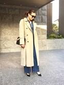 Chisato さんの「本革でなじみがよく安定している◎NavyだけどBKにも見えるから幅広がる♬(BALENCIAGA|ジーユー)」を使ったコーディネート
