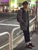茄子 俊介さんの(SKOOKUM|アイディーデイリーウェア)を使ったコーディネート