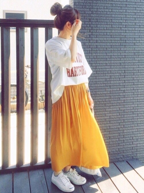 mery..さんの「綿アソートロゴTシャツ【niko and ...】(niko and...)」を使ったコーディネート