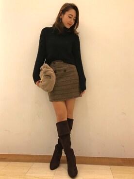RANDA 仙台PARCO店|yuka.abeさんの「メタルハンドルファーバッグ(RANDA)」を使ったコーディネート