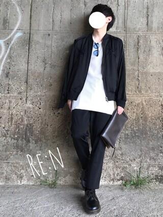 Re:nさんの「エンブロイダリースーベニアジャケット(UNITED TOKYO ユナイテッドトウキョウ)」を使ったコーディネート