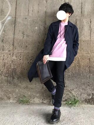 「裏毛クルーネックプルオーバー(UNITED TOKYO)」 using this Re:n looks