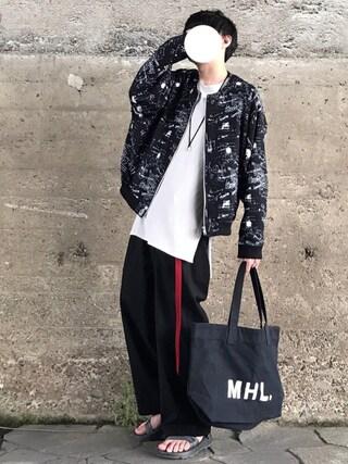 「【MYne】ラグガキグラフィックペーパースカジャン/RAKUGAKI GRAPHIC PAPER SUKAJAN【17S/S】(MYne)」 using this Re:n looks
