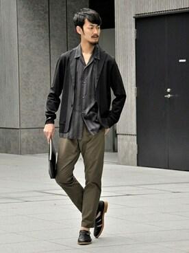 417 by EDIFICE渋谷店 EDIFICE/LA BOUCLEスタッフさんのパンツ「◇EDIFICE GRAYNAVYイージーパンツ(EDIFICE エディフィス)」を使ったコーディネート