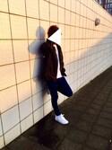 恭平さんの「Hanes×SHIPS AUTHENTIC PRODUCTS(ヘインズ×シップス・オーセンティック・プロダクツ): 2パック/Tシャツ Japan Fit■(SHIPS|シップス)」を使ったコーディネート
