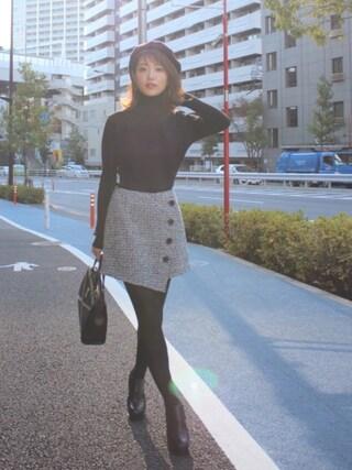舟山久美子♡くみっきーさんの「リブニットセットアップ(MICOAMERI|ミコアメリ)」を使ったコーディネート