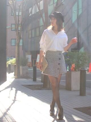 「ラップショートパンツ(MICOAMERI)」 using this 舟山久美子♡くみっきー looks
