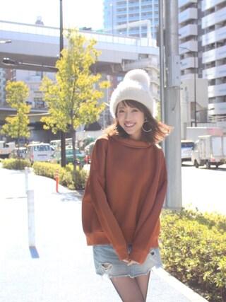 「ボトルネックバックチュールプルオーバー(MICOAMERI)」 using this 舟山久美子♡くみっきー looks
