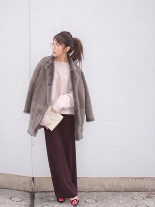 「モコモコバックチュールプルオーバー(MICOAMERI)」 using this 舟山久美子♡くみっきー looks