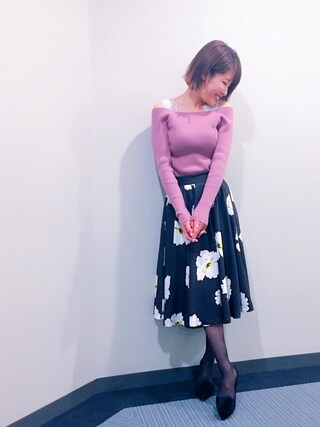 「OPEN OFF SHOULDER(The Dayz tokyo)」 using this 舟山久美子♡くみっきー looks
