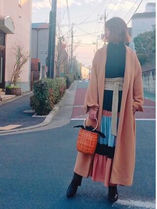 「ロングガウンコート(MICOAMERI)」 using this 舟山久美子♡くみっきー looks