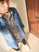 Ryo..さんの「MEN ジョガーパンツ(コットン・レングス68~72cm)(ユニクロ|ユニクロ)」を使ったコーディネート