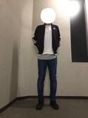 k7さんの「Hanes×SHIPS AUTHENTIC PRODUCTS(ヘインズ×シップス・オーセンティック・プロダクツ): 2パック/Tシャツ Japan Fit■(SHIPS|シップス)」を使ったコーディネート