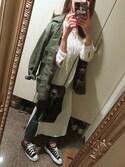 Y.♡.Uさんの「ルーズミリタリージャケット(Ungrid|アングリッド)」を使ったコーディネート