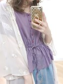 Rikako   Saitoさんの「シェル刺繍ロングガウン(one after another NICE CLAUP|ワンアフター アナザー ナイスクラップ)」を使ったコーディネート