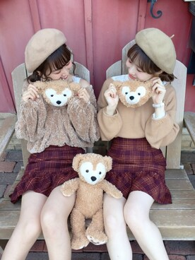 one after another NICE CLAUP|ricacoさんの「シンプルVニットトップス(one after another NICE CLAUP)」を使ったコーディネート