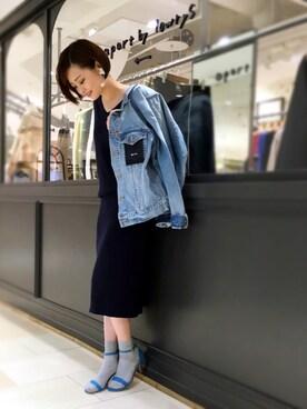 apart by lowrys/横浜ジョイナス店 sumireさんのデニムジャケット「デニムジャケットFW 730004(apart by lowrys アパートバイローリーズ)」を使ったコーディネート