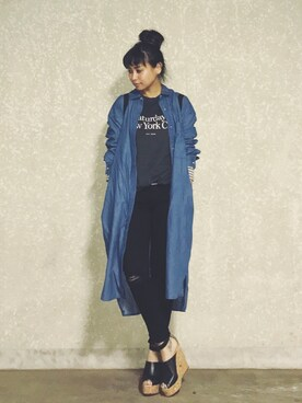 DENIM & SUPPLY RALPH LAUREN Ayumi NewAgeさんのデニムパンツ「ライザー クロップ スキニー ジーンズ(Denim & Supply Ralph Lauren デニム&サプライ)」を使ったコーディネート