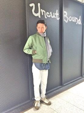 Uncut Bound 上野|HIRATSUKAさんの(Nigel Cabourn|ナイジェルケーボン)を使ったコーディネート