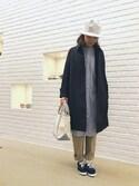 ニシヤマさんの「長袖ルーズワンピース TSS WOMEN(GYMPHLEX|ジムフレックス)」を使ったコーディネート