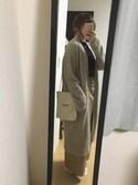 もふもんさんの「フラワーヘアゴムプレートべっ甲【PLAIN CLOTHING】(PLAIN CLOTHING|プレーンクロージング)」を使ったコーディネート