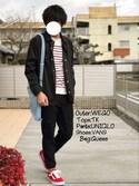 にっしーさんの「MEN ジョガーパンツ(ウールライク・レングス68~72cm)(ユニクロ|ユニクロ)」を使ったコーディネート