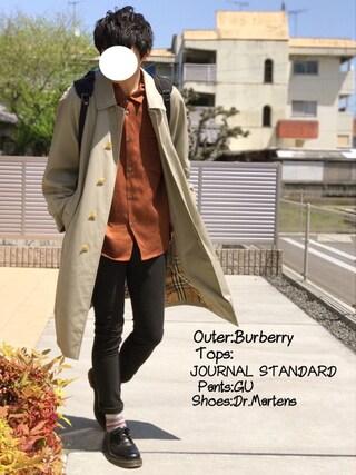 「リヨセルオープンカラーシャツ#(JOURNAL STANDARD)」 using this にっしー looks