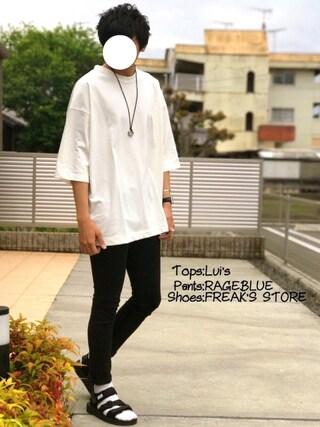 「7分袖BIG Tシャツ(Lui's)」 using this にっしー looks