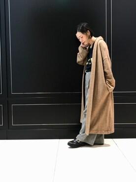 mika tamuraさんの「ワイドコール ワイドパンツ#(JOURNAL STANDARD|ジャーナルスタンダード)」を使ったコーディネート