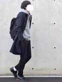 RYUさんの「スリーレイヤーギャバステンカラーコート(UNITED TOKYO ユナイテッドトウキョウ)」を使ったコーディネート