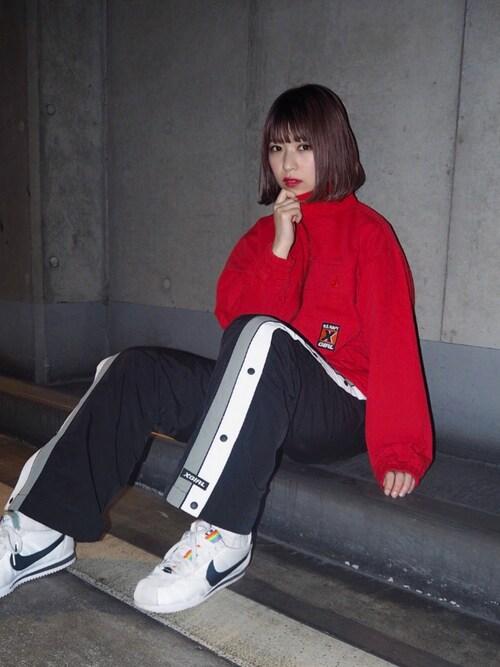 稲川 彩華さんの「MILITARY JACKET(X-girl)」を使ったコーディネート