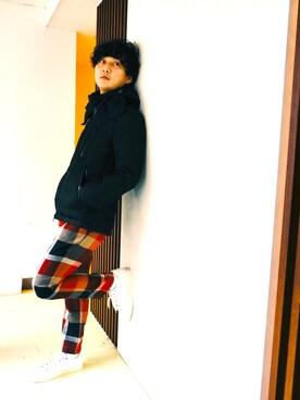 ブルーレーベル/ブラックレーベル・クレストブリッジZOZOTOWN店|T.Kuchidaさんの「シャドーCBチェック ライトウェイトダウン(BLACK LABEL CRESTBRIDGE)」を使ったコーディネート