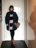YUMIKO HIRAYAMAさんの「ZIPポケットスクエアショルダーバッグ/ハンドバッグ【PLAIN CLOTHING】(PLAIN CLOTHING|プレーンクロージング)」を使ったコーディネート