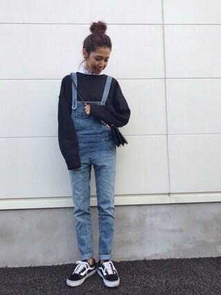kayoさんの「Mock Shirt Ⅲ(AZUL by moussy アズールバイマウジー)」を使ったコーディネート